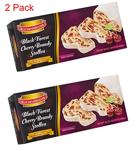 Kuchenmeister Black Forest Cherry Liqueur Stollen - 2-Pack Gift Boxed