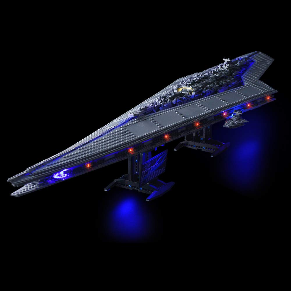 Lightailing Set di Luci per (Star Wars Super Star Destroyer) Modello da costruire - Kit luce led compatibile con Lego 10221(NON incluso nel modello)