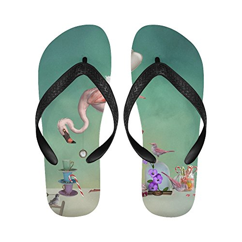 D-verhaal Flamingo Tea Party Slippers Strand Sandalen Voor Heren / Dames