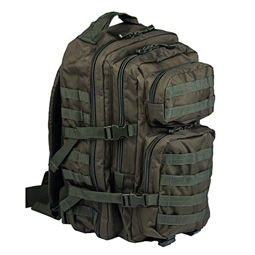 Mil-Tec Military Army Patrol Molle Assault Pack Tactical Combat Rucksack Backpack Bag 36L Olive Green