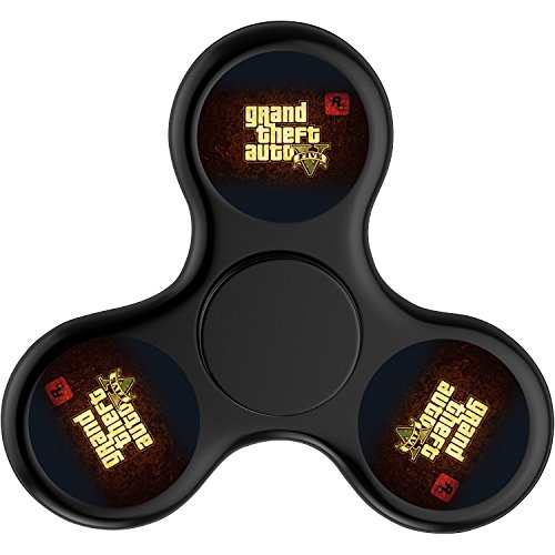 Price comparison product image Video Game GTA_V Hands Fidget Spinner Toy Stress Reducer-Perfect For ADD, ADHD, Anxiety, and Autism Adult Children-Black