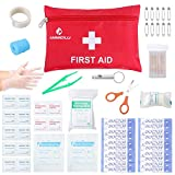 First Aid Kit Medical Survival Bag(46 Piece),Mini First Aid Kit: Compact for Emergency at Home, Outdoors, Car, Camping, Workplace, Hiking , Survival., ANMEILU.