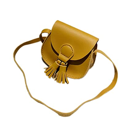 f3c31fbf9f5c Amazon.com: Women Tassel Crossbody Bag - Girl Cute Vegan Leather ...