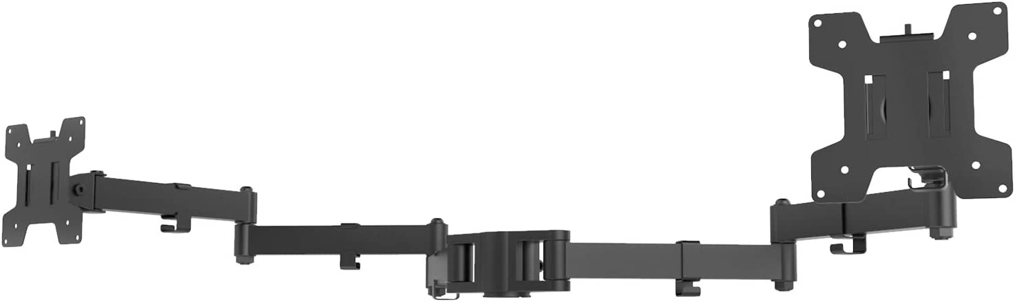 WALI Universal Dual Fully Adjustable 3 Tier Arm for WALI Monitor Mounting System (002ARMXL), Black