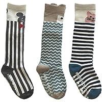 Pro1rise Unisex Baby Knee High Socks Stockings Cartoon Animal Non Slip Tube Long Socks For 1-3 Years Toddler Boys Girls 3 Pairs Pack by Pro1rise