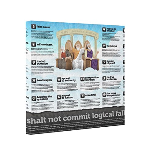 ShowMore Abstract Art Canvas Your Logical Fallacy Is. On Canvas