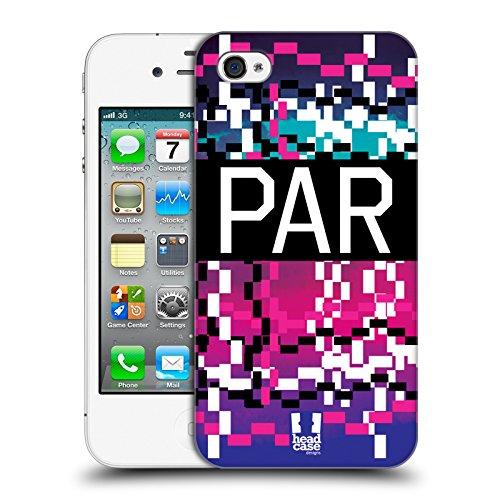 Head Case Designs Parigi Città Della Moda Cover Retro Rigida per Apple iPhone 4 / 4S