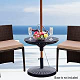 Sundale Outdoor Adjustable All Weather Umbrella Table Beach Patio Garden Poolside Accessory, 23in Diameter, Black