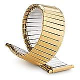 Speidel Men's Twist-O-Flex Classic Gold Tone Straight Edge 16-22mm XL
