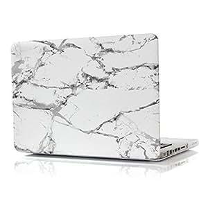 Aikand® MacBook Pro de 13 pulgadas Fundas,gris patrón de mármol 2-en-1 ultra delgado peso ligero recubierto de goma Caja dura de colores multi con la piel del teclado EU/UK para Apple MacBook Pro de 13,3 pulgadas (Fit Models: A1466 y A1369)