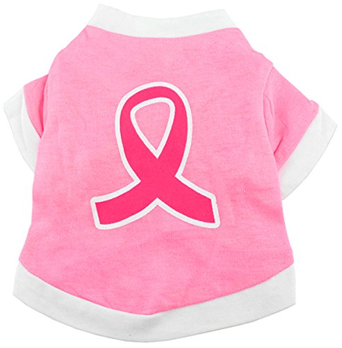Large smalllee_lucky_store Ribbon Shirt for Small Dogs, Large, Pink