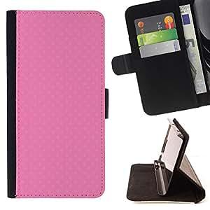 - Cute pink texture - - Monedero PU titular de la tarjeta de cr????dito de cuero cubierta de la caja de la bolsa FOR Sony Xperia Z1 L39 RetroCandy