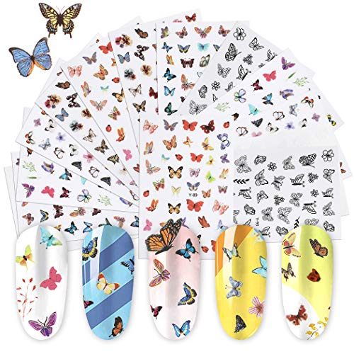 Butterfly Nail Stickera