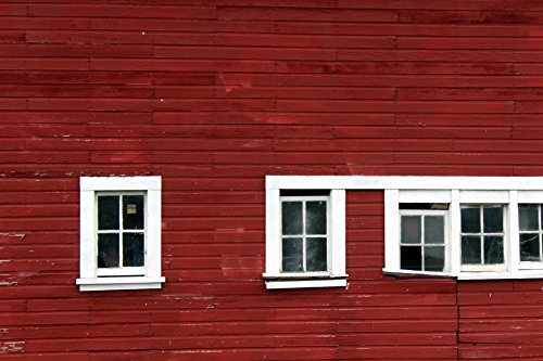 Home Comforts LAMINATED POSTER Red Barn Siding Architecture