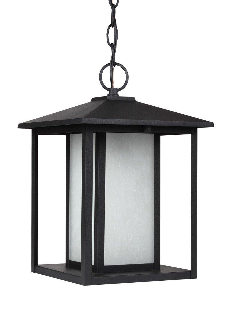 Sea Gull 69029-12 Hunnington Outdoor Pendant, 1-Light 100 Watts, Black