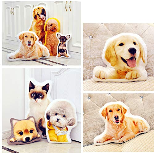 COCYBERCOC Custom Photo Pillow, Personalized Pet Pillow, Cat Pillow for Christmas, Thanksgiving, Valentine's Day, Halloween - Lovely Pet Dog Cat Memorial Gift (Single Side 12 inch)]()