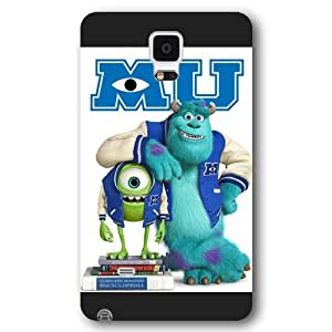 Customized Black Frosted Disney Cartoon Monsters University Samsung Galaxy Note 4 Case