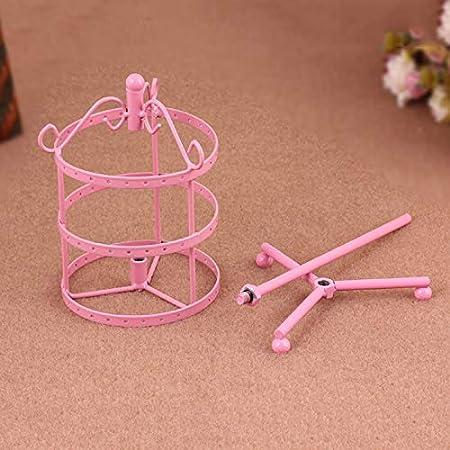 Abilieauty Pr/ésentoir /à bijoux rond en m/étal rotatif /à 72 trous pour boucles doreilles bracelet