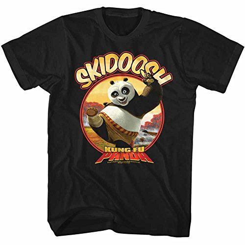 American Classics Kung Fu Panda Movies Skidoosh Adult Short Sleeve T Shirt XXXT Black