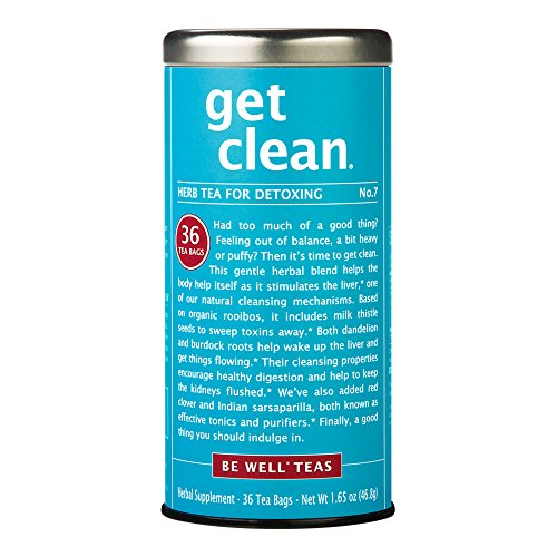 The Republic Of Tea Be Well - Get Clean - No. 7 Red Rooibos Herbal Tea For Detoxing, 36 Tea Bag Tin