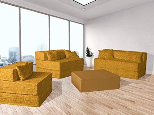 Divano letto piccolo fiore giallo arancio shop for Divano letto piccolo