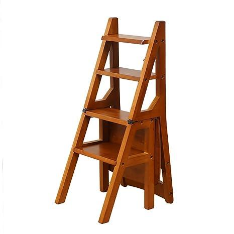 Huisongda Taburete de salón Silla con Escalera Plegable de ...