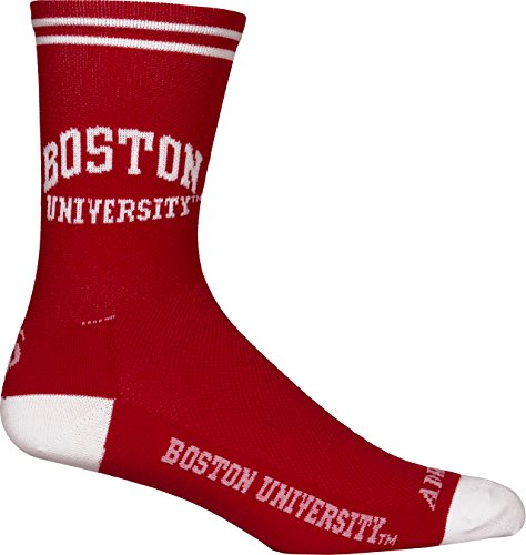 Adrenaline Promotions NCAA Boston University Terriers Cycling/Triathlon/Running Socks, Red, Large/X-Large