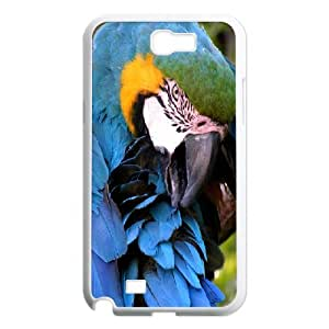 Samsung Galaxy Note 2 Cases Colorful Parrot, [White]
