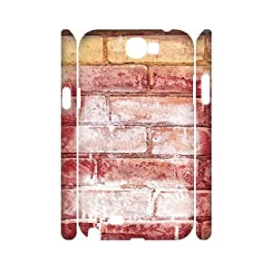 3D Wall Brick Series, Samsung Galaxy Note 2 Cases, Colored Brick Texture Cases for Samsung Galaxy Note 2 [White]