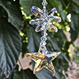 Star Crystal Sun Catcher, Swarovski Star Pendant, Rainbows, Rear View Mirror, Glass Ornament, Rainbow Prisms, Feng Shui Décor, 8816
