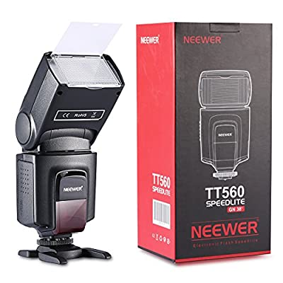 Neewer TT560 Flash Speedlite for Canon Nikon Sony Panasonic Olympus Fujifilm Pentax Sigma Minolta Leica and Other SLR Digital SLR Film SLR Cameras and Digital Cameras with single-contact Hot Shoe by Neewer