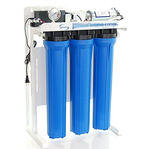 - iSpring RCB3P 300 GPD Commercial Grade Reverse Osmosis Water Filter System w/ Booster Pump and Oversized Pre RO Filters