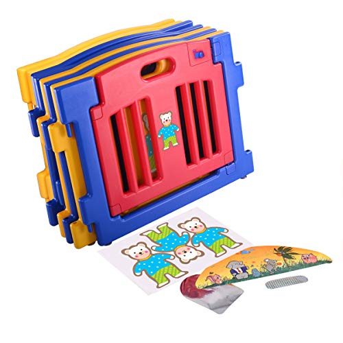 JAXPETY 8-Panel Safety Play Center