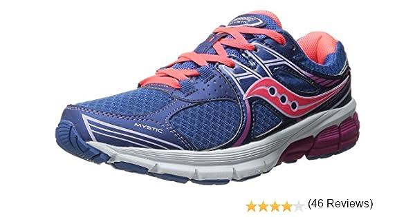 Saucony Mystic, Zapatillas para Mujer, Denim/Coral/Fucsia, 37 1/2 EU: Amazon.es: Zapatos y complementos