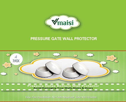 Large Product Image of 4 Pack Baby Gates Wall Cups, Safety Wall Bumpers Guard Fit for Bottom of Gates, Doorway, Stairs, Baseboard, work with Dog Pet Child Kid Pressure Mounted Gates