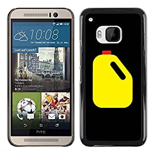 Shell-Star Arte & diseño plástico duro Fundas Cover Cubre Hard Case Cover para HTC One M9 ( Oil Racing Canister Yellow Black Art )