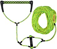 Obcursco Water Sport Rope, Water Sport Line with EVA Handle. Ideal for Water ski, Wakeboard, Kneeboard