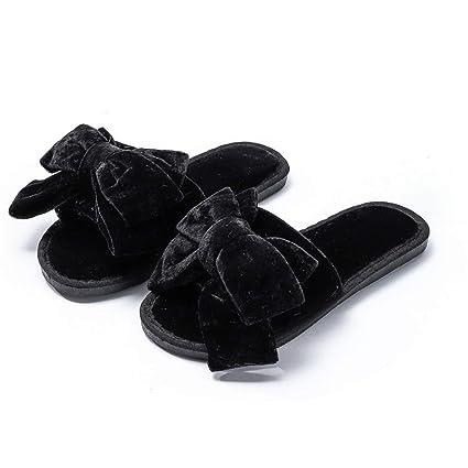 WXMDDN-Zapatillas de Punta Abierta/Zapatillas de algodón para Mujer/Zapatillas de Invierno