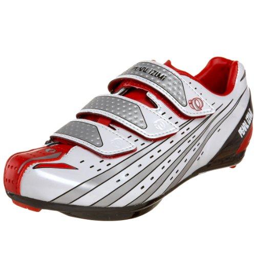 Pearl iZUMi Octane SL II Cycling Shoe,White/True Red,43 M EU (US Women's 10 M/US Men's 9.5 M)