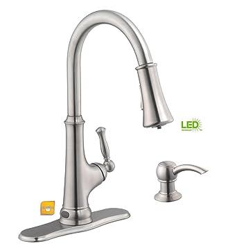 glacier bay touchless single handle pull down sprayer kitchen faucet rh amazon com
