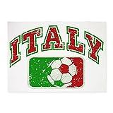 5' x 7' Area Rug Italy Soccer Grunge Italian Flag