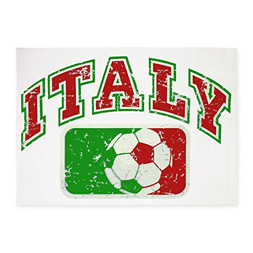 5' x 7' Area Rug Italy Soccer Grunge Italian Flag by Royal Lion