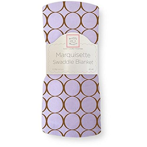 SwaddleDesigns Marquisette Swaddling Blanket Lavender
