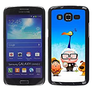 Slim Design Hard PC/Aluminum Shell Case Cover for Samsung Galaxy Grand 2 SM-G7102 SM-G7105 Cartoon Kids Blue Movie Poster / JUSTGO PHONE PROTECTOR