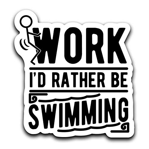One 6 Inch Decal MKS0394 More Shiz Screw Work Id Rather Be Swimming Decal Sticker Car Truck Van Bumper Window Laptop Cup Wall