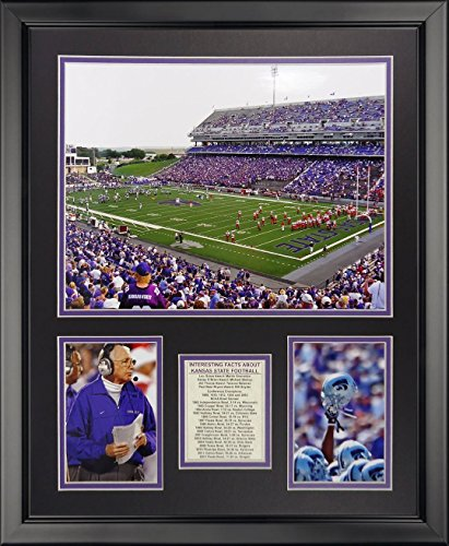 "Legends Never Die Kansas State Wildcats - Bill Snyder Family Football Stadium Framed Photo Collage, 16"" x 20"""