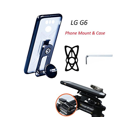 LG G6 Bike Cellphone Mount Holder with Riding Case,Calmpal Stem cap Bike Mount System with Riding Cycling Case for LG G6 ()