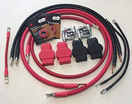 3/0 Battery Cable Set hard start Kit for Dodge Ram 2500/3500 1998-2002 Gen 2.5 with 24 valve 5.9L Cummins (Ram 24 Dodge 3500 Valve)