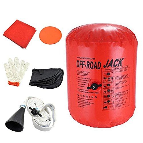 Vogvigo Exhaust Air Jack Inflatable Car Jack Inflatable Jack Exhaust and Pump Dual Use Exhaust Jack Off Road Lifting Air Bag Off Road Jack Vehicle Car Truck Rescure 4 Ton/8800LBs (Orange) (Exhaust Jack Air)