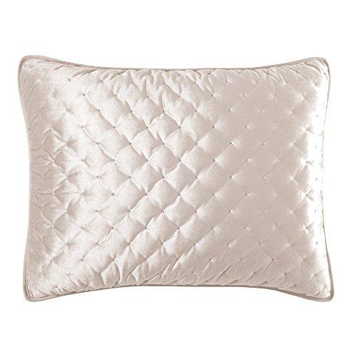 - Croscill Carissa Standard Quilt SHAM, Ivory